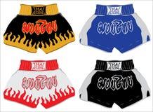 Tajlandzcy bokserscy skróty, Muay Tajlandzki Zdjęcie Royalty Free