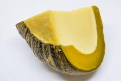 Tajlandzcy cukierki - Jajeczny custard w bani na białym tle: Dyniowy custard, wyśmienicie Tajlandzcy desery fotografia stock