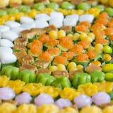 Tajlandzcy cukierki lub Khan Thai, unikalnego, kolorowego pojawienie, Zdjęcia Royalty Free