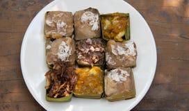Tajlandzcy desery w białym naczyniu Fotografia Stock