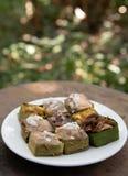 Tajlandzcy desery w białym naczyniu Obrazy Stock