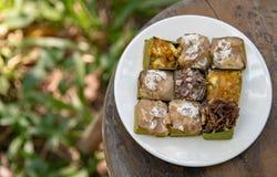 Tajlandzcy desery w białym naczyniu Zdjęcia Stock
