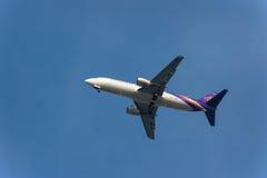 Tajlandzcy drogi oddechowe samoloty fotografia stock