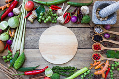 Tajlandzcy karmowi składniki, warzywo, korzenny smak fotografia stock