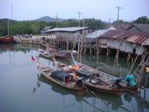 Tajlandzcy longboats, Tajlandia Fotografia Royalty Free