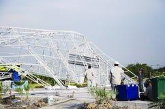 Tajlandzcy ludzie ankieta budynku formalnie szkody i łamający ponieważ Fotografia Stock