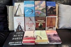 Tajlandzcy ludzie kupuje przy żywym pokojem i przedstawienie ręki książka Zdjęcie Royalty Free