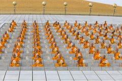 Tajlandzcy michaelita podczas Buddyjskiego ceremonii Magha Puja dnia w Wacie Phra Dhammakaya, Bangkok, Tajlandia Zdjęcie Stock