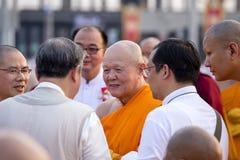 Tajlandzcy michaelita podczas Buddyjskiego ceremonii Magha Puja dnia w Wacie Phra Dhammakaya, Bangkok, Tajlandia Obraz Stock