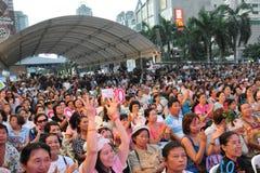 tajlandzcy partyjni demokrata zwolennicy Obrazy Stock