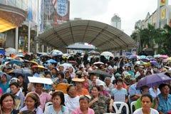tajlandzcy partyjni demokrata zwolennicy Obrazy Royalty Free