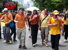 Tajlandzcy protestors maszeruje Yingluck rząd przeciw Obraz Royalty Free