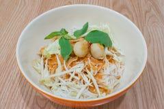 Tajlandzcy ryżowi wermiszel z currym Fotografia Royalty Free