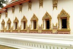 Tajlandzcy sztuk okno w świątyni Zdjęcia Royalty Free