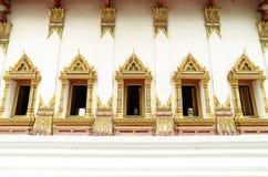 Tajlandzcy sztuk okno w świątyni Obraz Stock