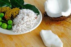 Tajlandzcy Zieleni currych składniki Fotografia Stock