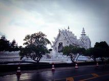 Tajlandzka świątynia - Wat Rong Khun Zdjęcia Royalty Free