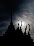Tajlandzka świątynna sylwetka Obraz Stock