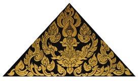 Tajlandzka żeńska anioł farba z tajlandzkim wzorem Zdjęcie Stock