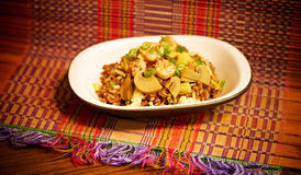 Tajlandzka Ananasowa krewetka Smażący Rice zdjęcie royalty free
