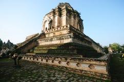 Tajlandzka antyczna brown pagoda w chiangmai Obraz Stock