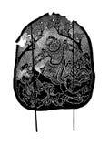 Tajlandzka antyczna cień sztuka - cień kukła Fotografia Stock
