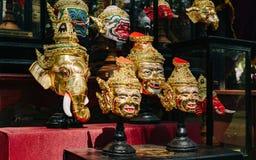 Tajlandzka antyczna tradycyjna maska lub obrazy stock