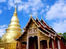 Tajlandzka Buddyjska świątynia i pagoda Zdjęcia Royalty Free