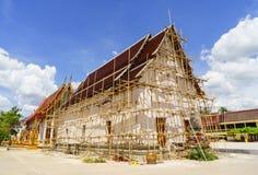 Tajlandzka Buddyjskiej świątyni konserwacja Zdjęcia Royalty Free