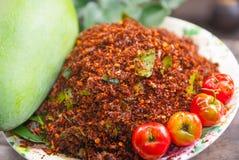 Tajlandzka Chili sól Zdjęcia Stock