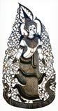 Tajlandzka cień sztuki kukła Obrazy Royalty Free
