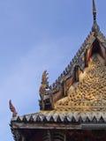 Tajlandzka deseniowa ornamentu stiuku ulga Zdjęcia Royalty Free
