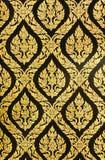 Tajlandzka deseniowa tradycyjna sztuka, widziimy Tajlandzką deseniową sztukę w każdy Zdjęcie Royalty Free