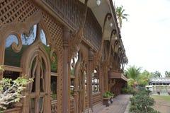 Tajlandzka drewniana dom ściana Fotografia Royalty Free