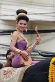 Tajlandzka dziewczyna z północną styl suknią Zdjęcie Stock