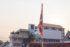 Tajlandzka flaga Zdjęcie Royalty Free