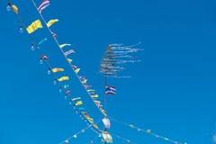 Tajlandzka flaga czerwień, biel i błękit, Zdjęcia Royalty Free
