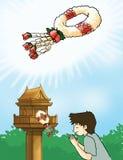 Tajlandzka girlanda, kwiatu wianek ilustracja wektor