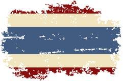 Tajlandzka grunge flaga również zwrócić corel ilustracji wektora ilustracja wektor