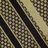Tajlandzka jedwabniczej tkaniny tekstura z kwiecistym wzorem Zdjęcia Royalty Free