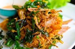 Tajlandzka karmowa crispy rybia sałatka Obrazy Royalty Free