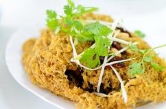 Tajlandzka karmowa crispy sum sałatka Zdjęcia Royalty Free