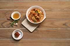 Tajlandzka karmowa Czerwona curry wieprzowina obrazy royalty free