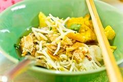 Tajlandzka kluski polewka z owoce morza Zdjęcie Stock