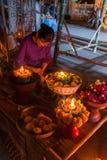 Tajlandzka kobiety odzieży tradycyjna bawełna wyplatająca Fotografia Stock