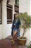 Tajlandzka kobiety podróż, portret przy George Town i Obraz Stock