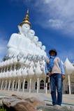 Tajlandzka kobiety 34 roczniaka podróż i portret przy Watem Pha Sorn Kaew Zdjęcie Royalty Free