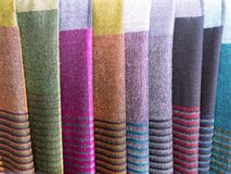 Tajlandzka kolorowa ręka wyplatająca tkanina obraz stock