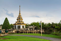 tajlandzka kopuły świątynia zdjęcie royalty free