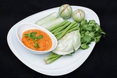 Tajlandzka korzenna chłodna pasta Obraz Stock